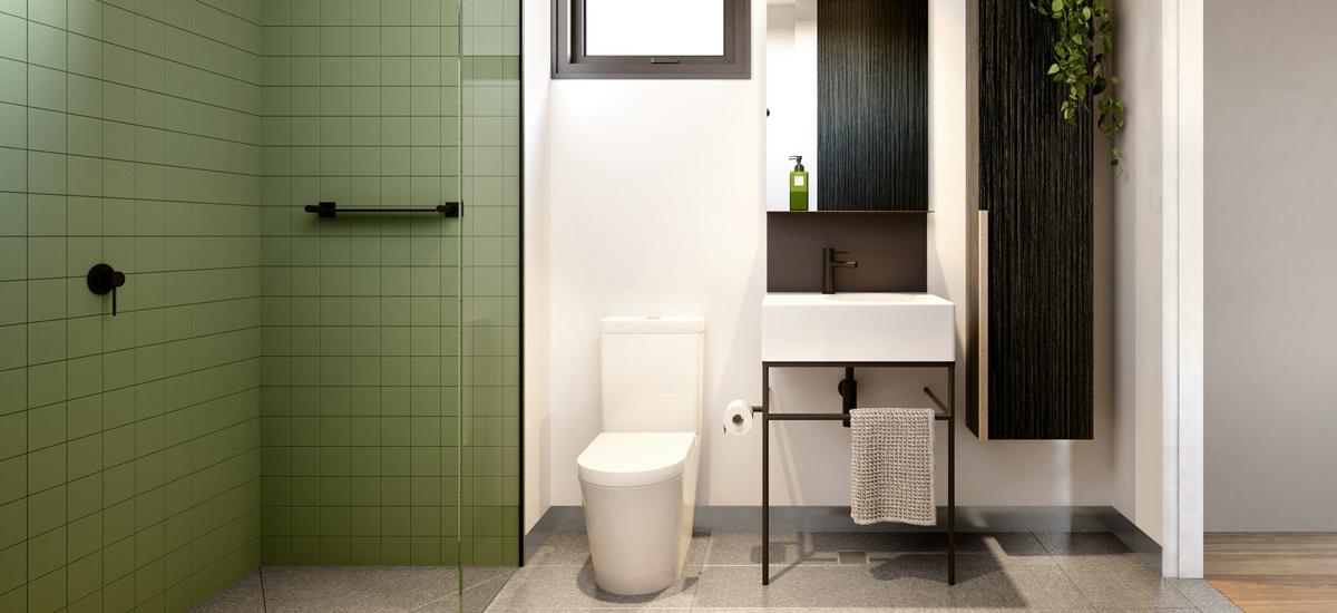 17 union street jungle style bathroom green