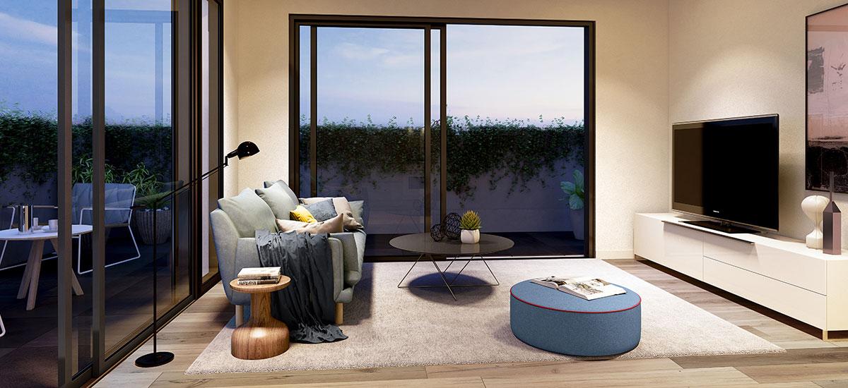 olson apartments living room