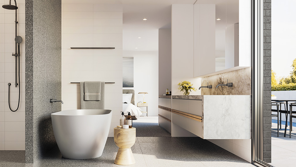 wattletree apartment bathroom malvern melbourne