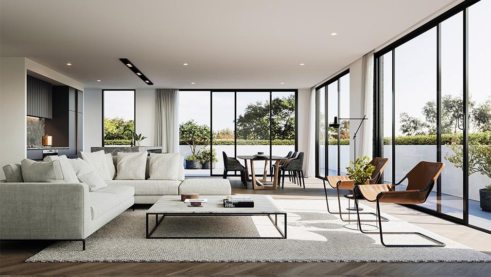 wattletree apartment living area malvern melbourne