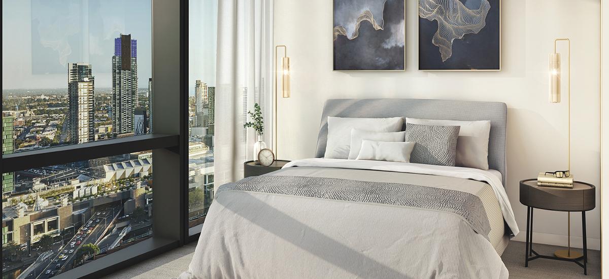 555 Collins bedroom