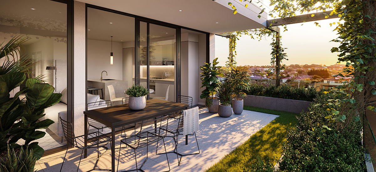 alba apartments rooftop melbourne luxury outdoor area