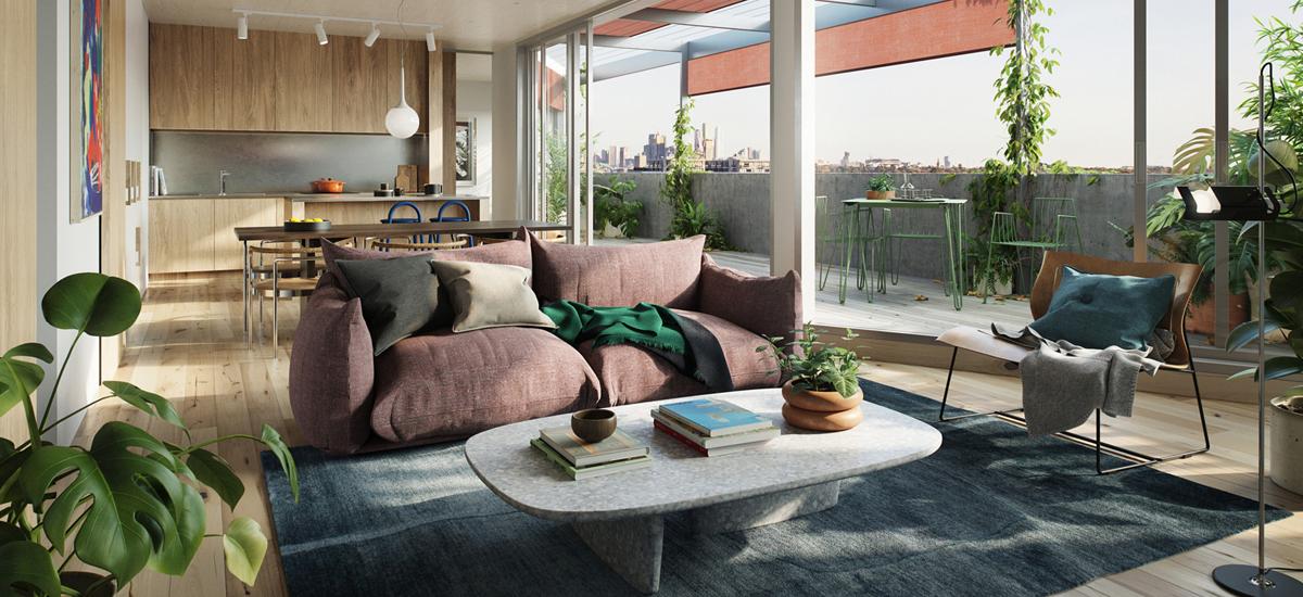 Balfe Park Lane living spaces
