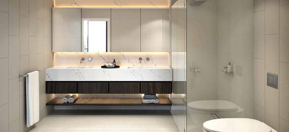 Bathroom at Sierra Apartments