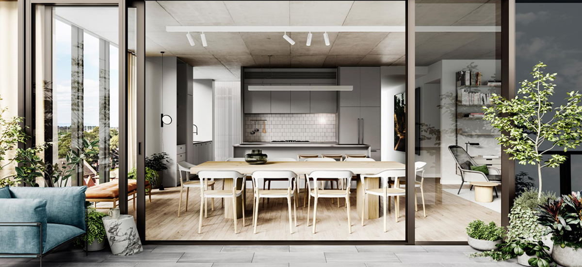 Bedford by Milieu courtyard and dining area