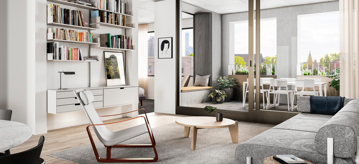 Bedford by Milieu living area