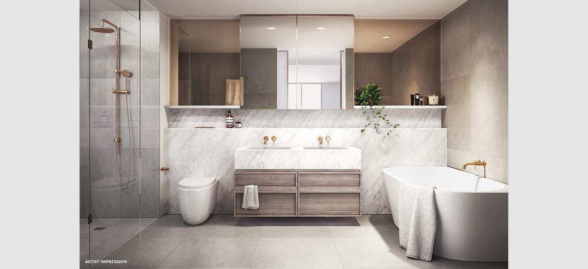bijou camberwell apartments bathroom