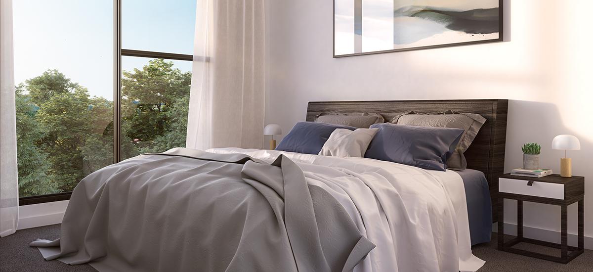BLVD Gardens bedroom