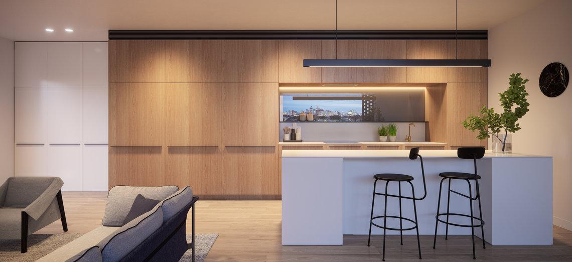 arkadia apartments kitchen