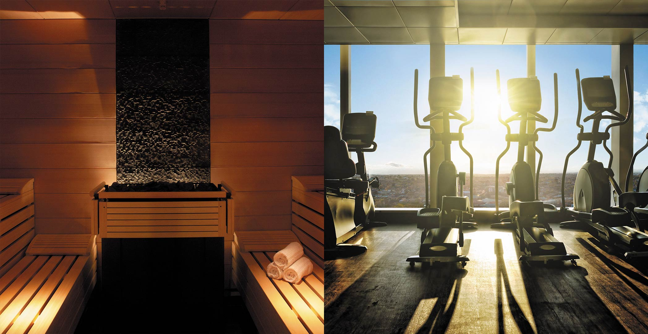 Sauna and Gym at Central Park Box Hill