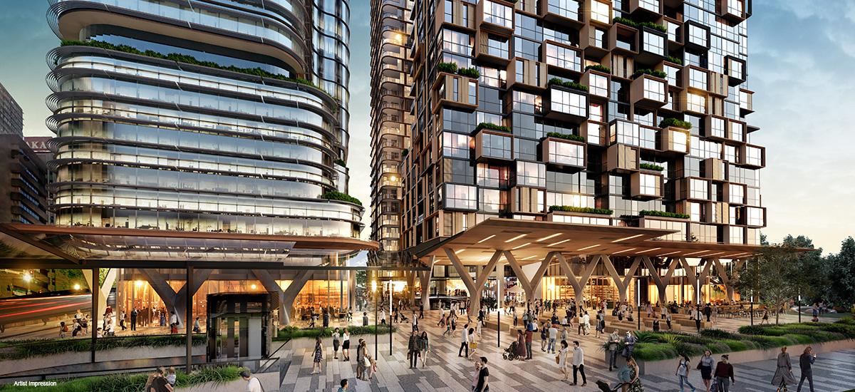 eighty eight apartment development sydney st leonards facade