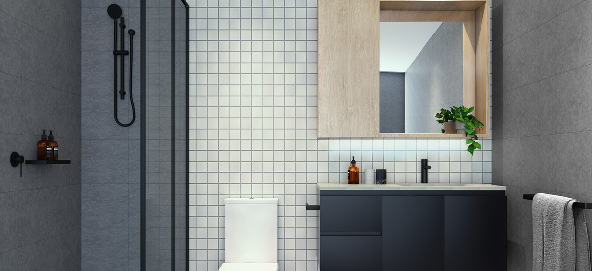 halcyon bathroom apartment development brunswick east melbourne