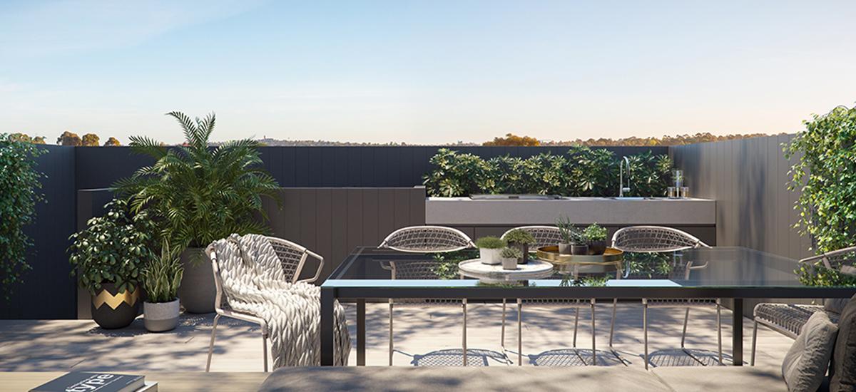 Hotham & Carlisle rooftop terrace
