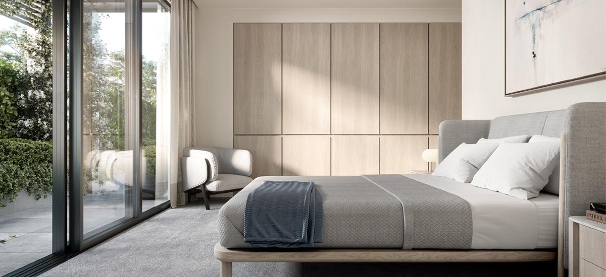 Hudson Green bedroom