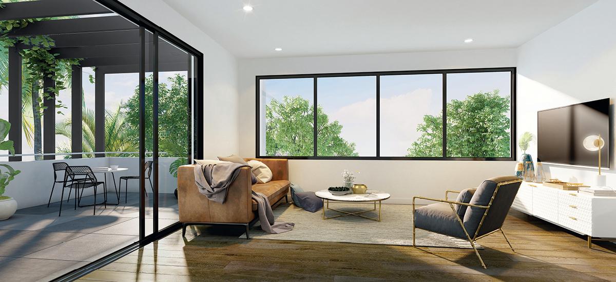 Indigo Apartments living room