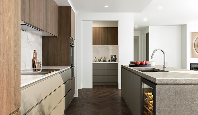 Kitchen at Iva Residences - apartments in Ivanhoe