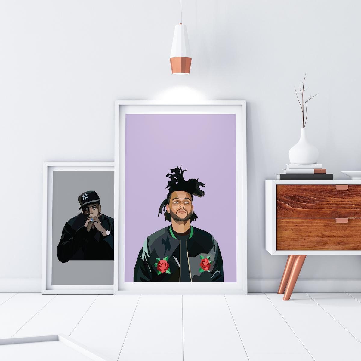 Assymetrical artwork Jay Z and the Weeknd