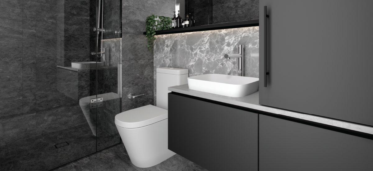 Lincoln Apartments bathroom