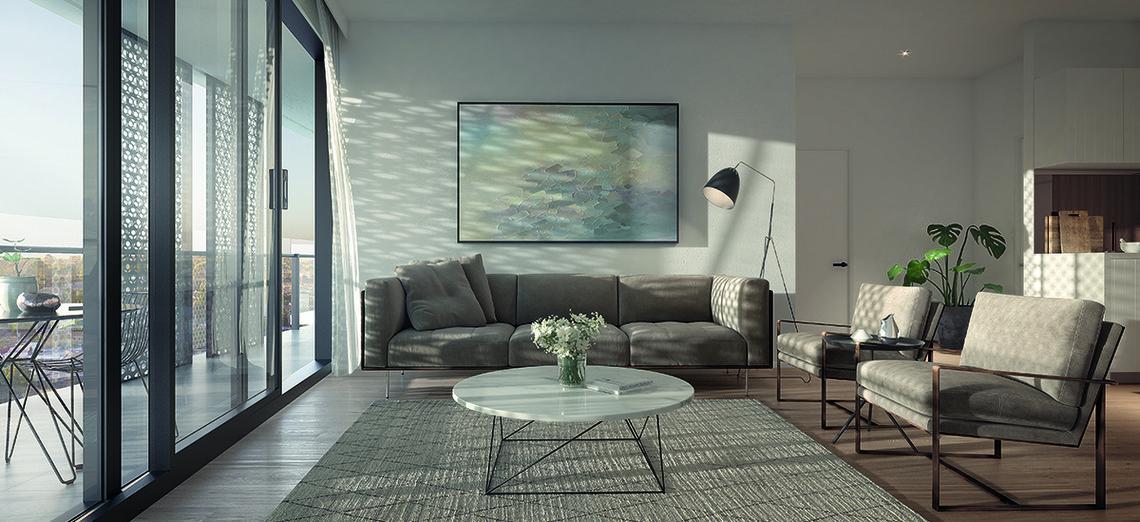 M City Apartment living room