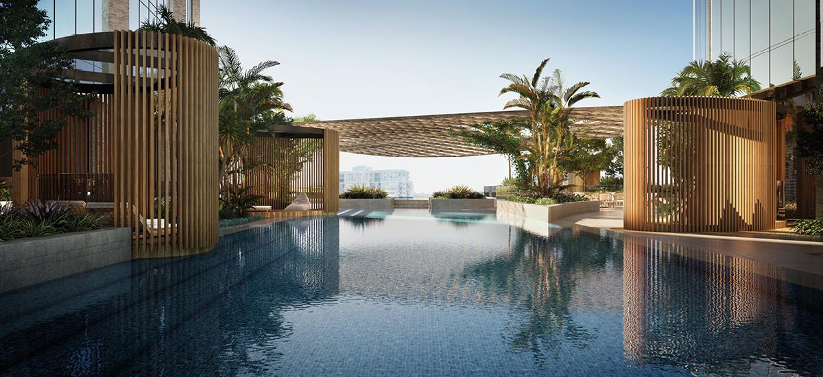 melbourne square apartments swimming pool