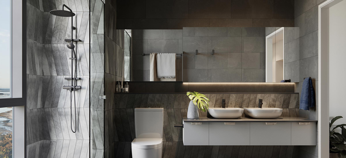 marine quarters luxury bathroom design queensland apartment