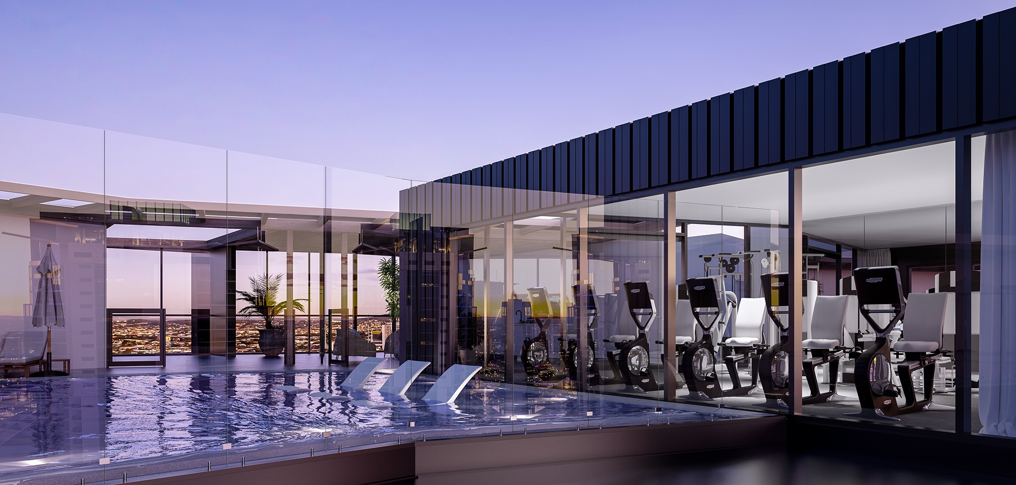 mary lane brisbane apartments on site gym fitness swimming pool