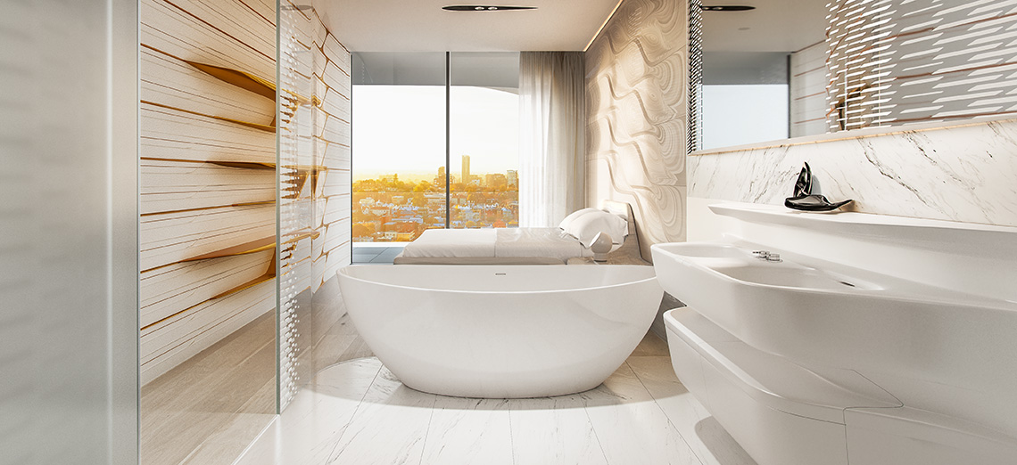 Mayfair penthouse bathroom