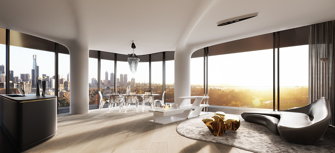 Mayfair penthouse lounge room