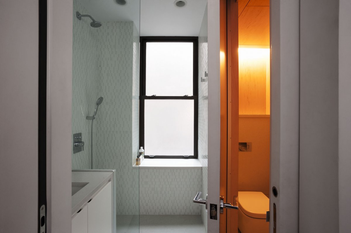 New york city tiny apartment bathroom