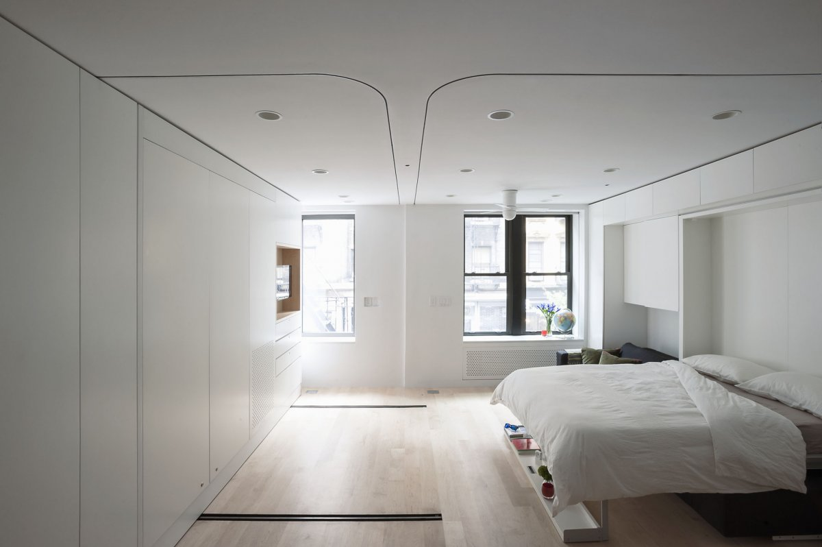 New york city tiny apartment bedroom