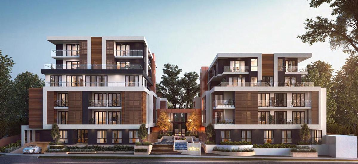 nelson bourke apartment development building facade exterior
