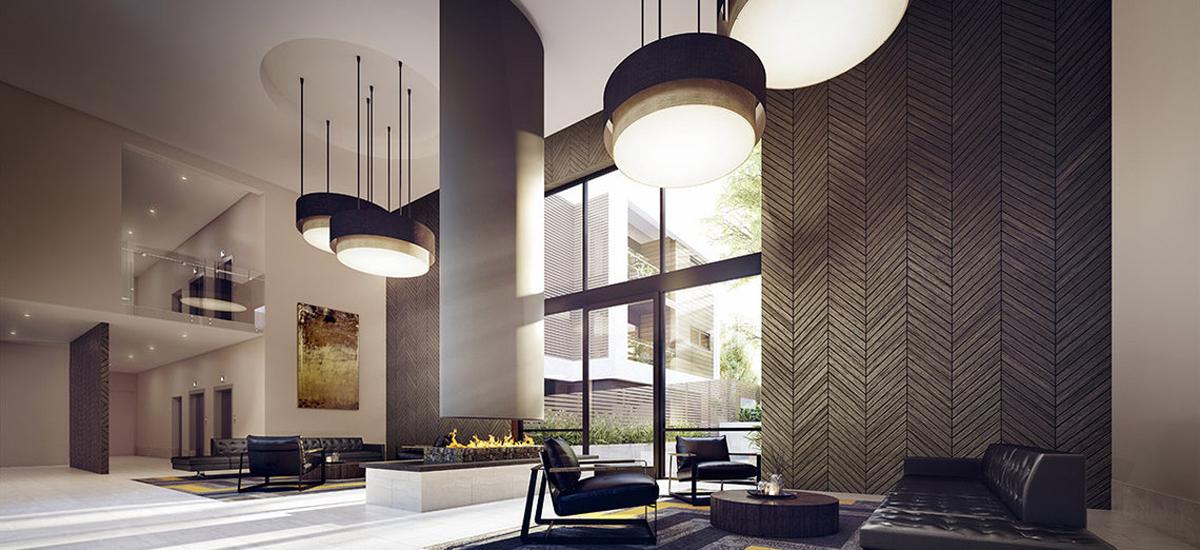 nelson bourke apartment building lobby luxury