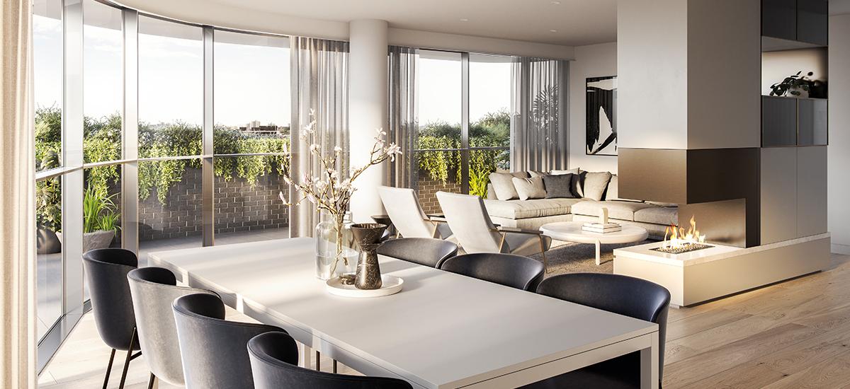 One Como living area