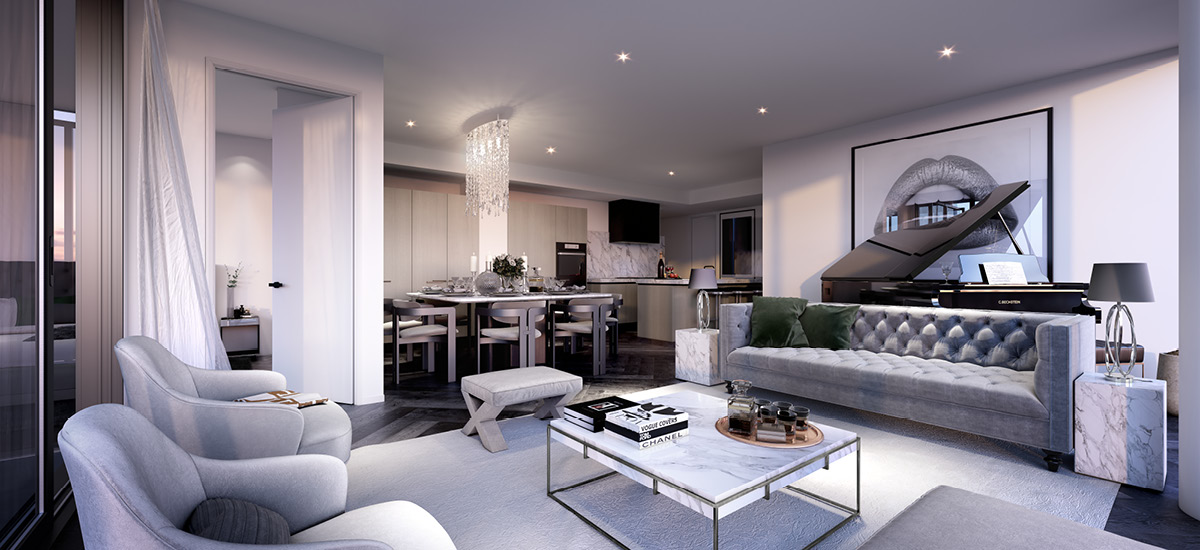 Park Ave living area