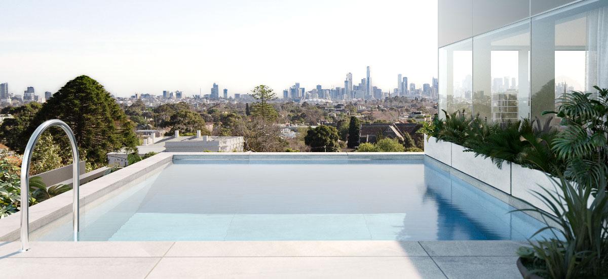 Pillar of Hawthorn penthouse swimming pool