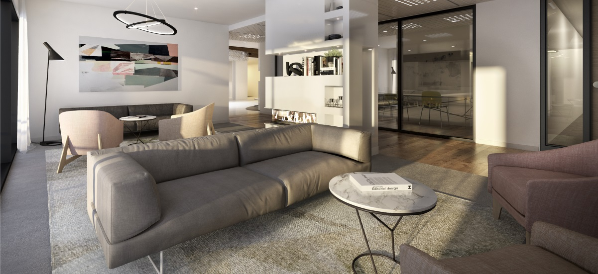 off the plan apartment for sale Ramsay Gardens living room