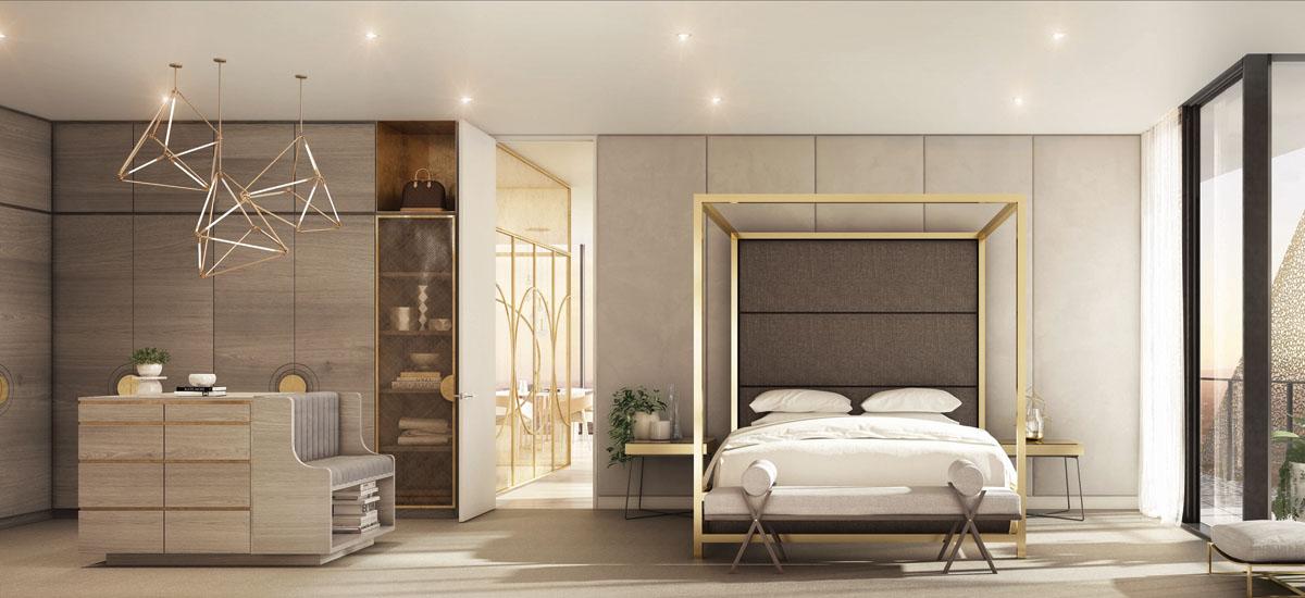 realm apartment development bedroom luxury