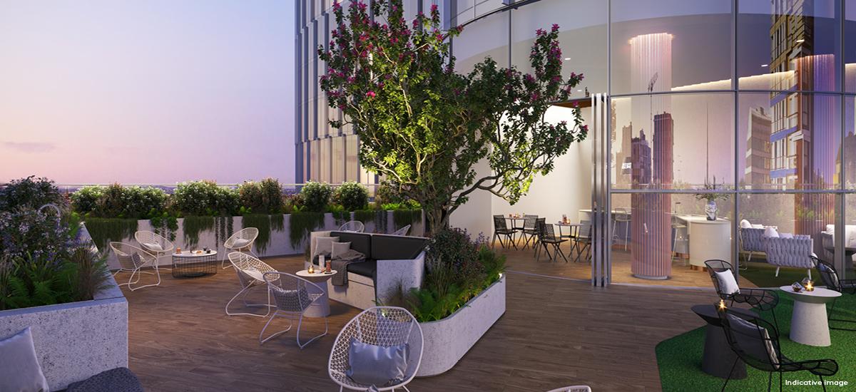 Rise Residences rooftop garden