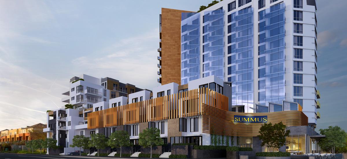 summus apartment development exterior facade