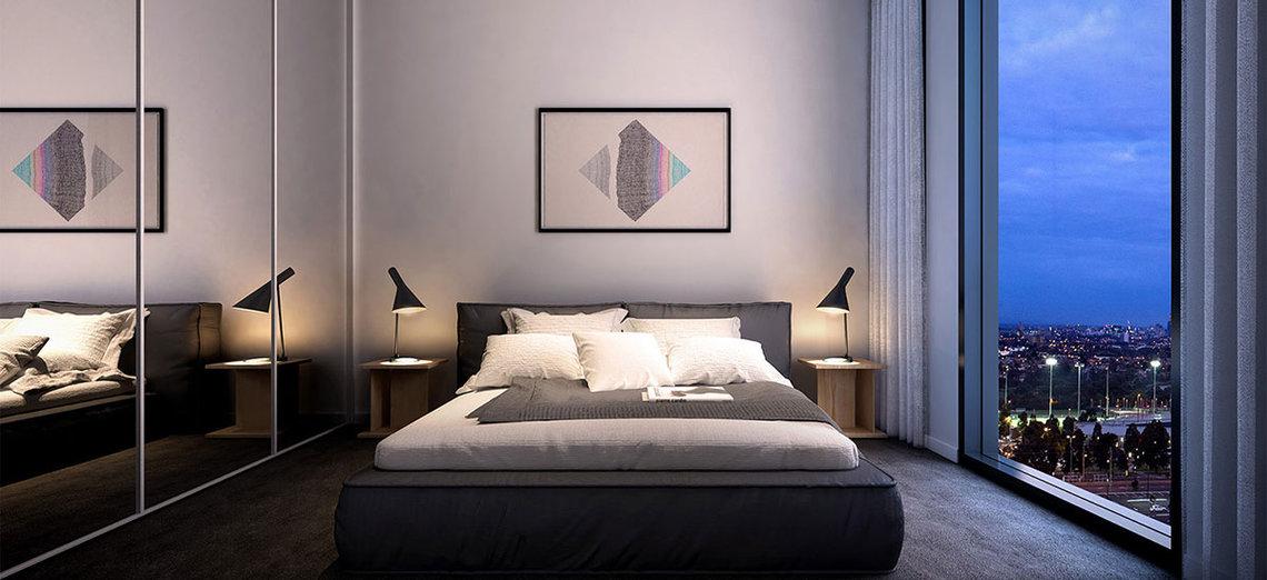 Bedroom at Summus Apartments