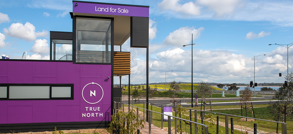 Land and lots now selling at True North display suite