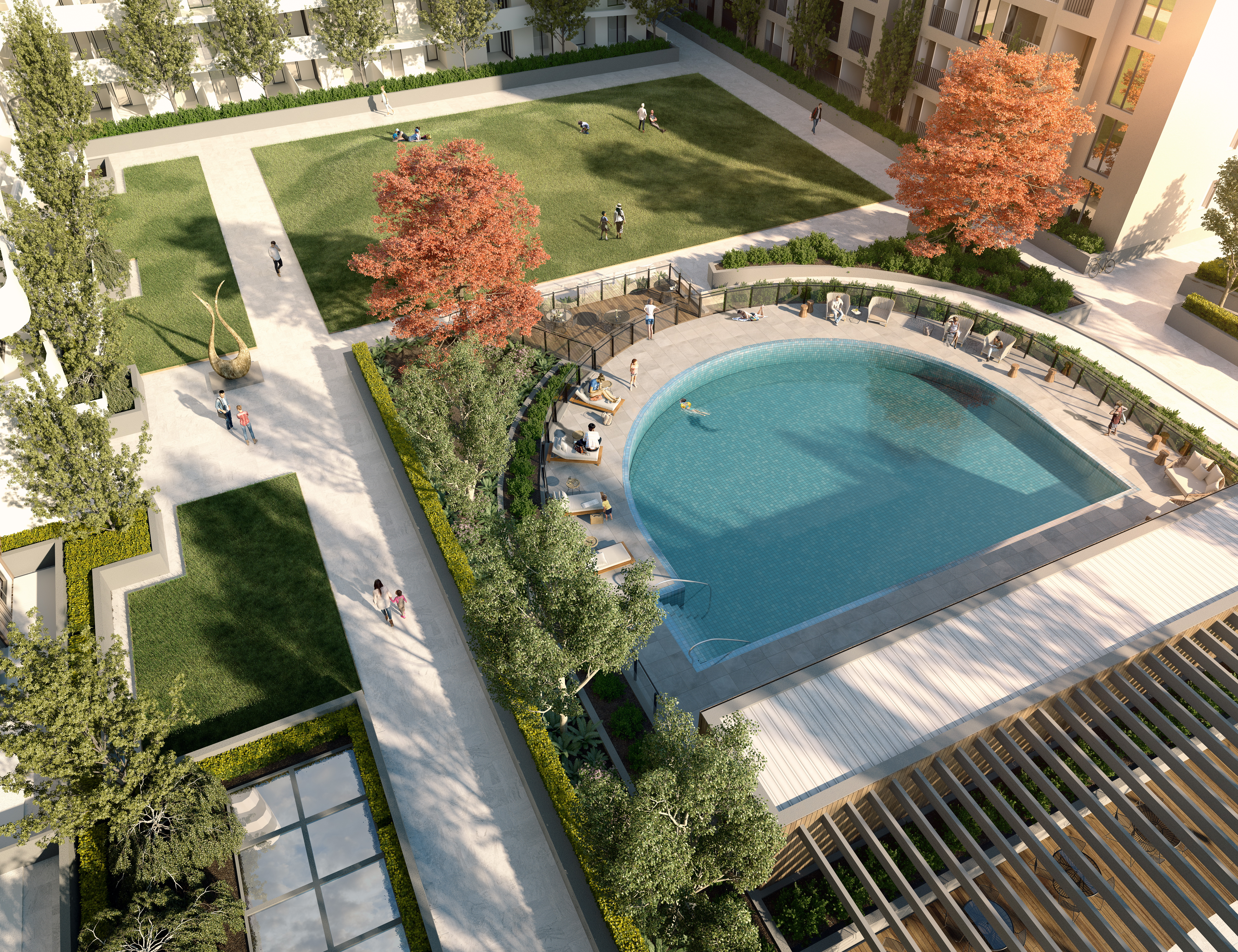 M-city apartment developments Melbourne off the plan Monash swimming pool
