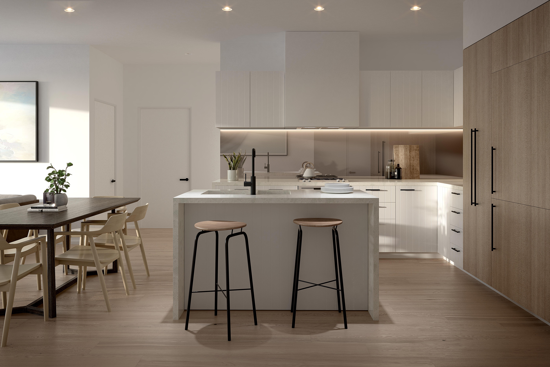 M-city apartment developments Melbourne off the plan Monash kitchen living room