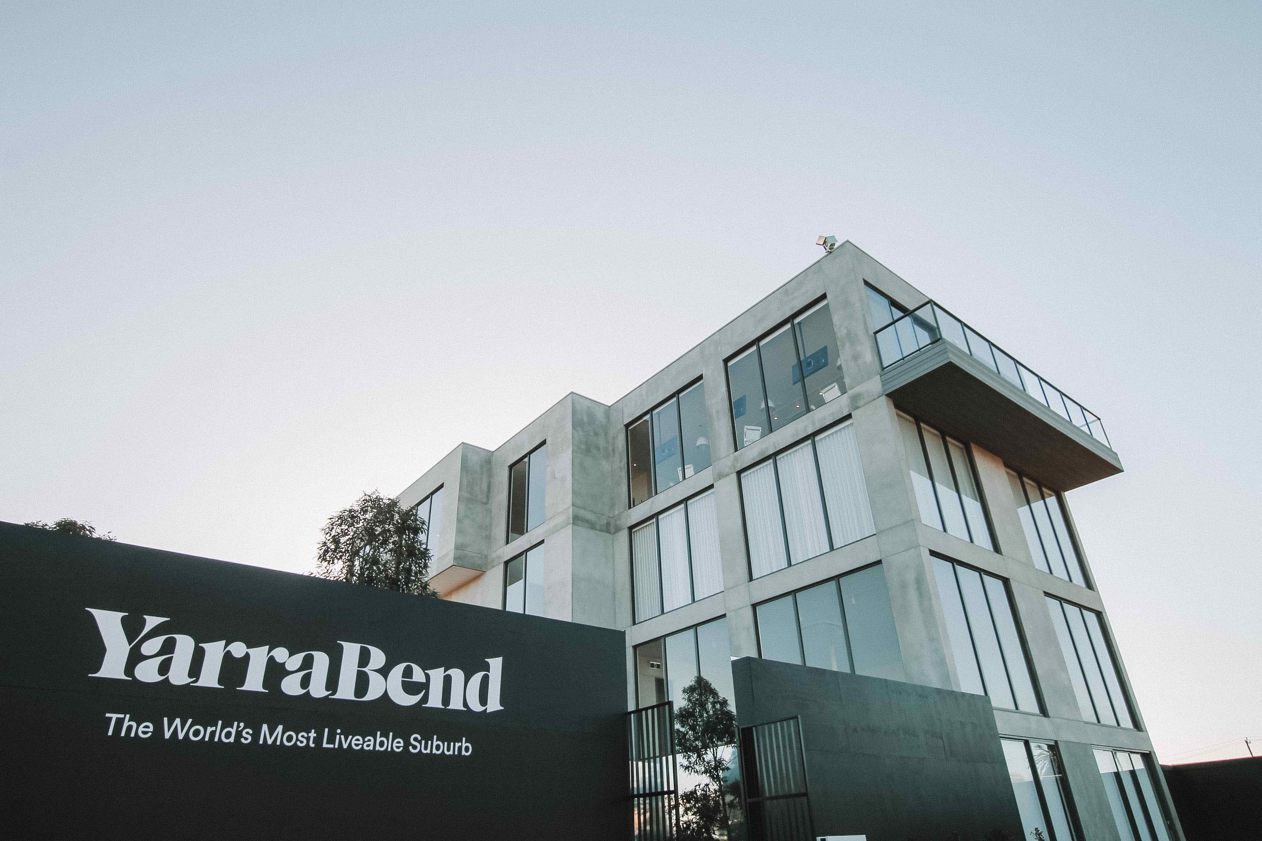 YarraBend display suite exterior