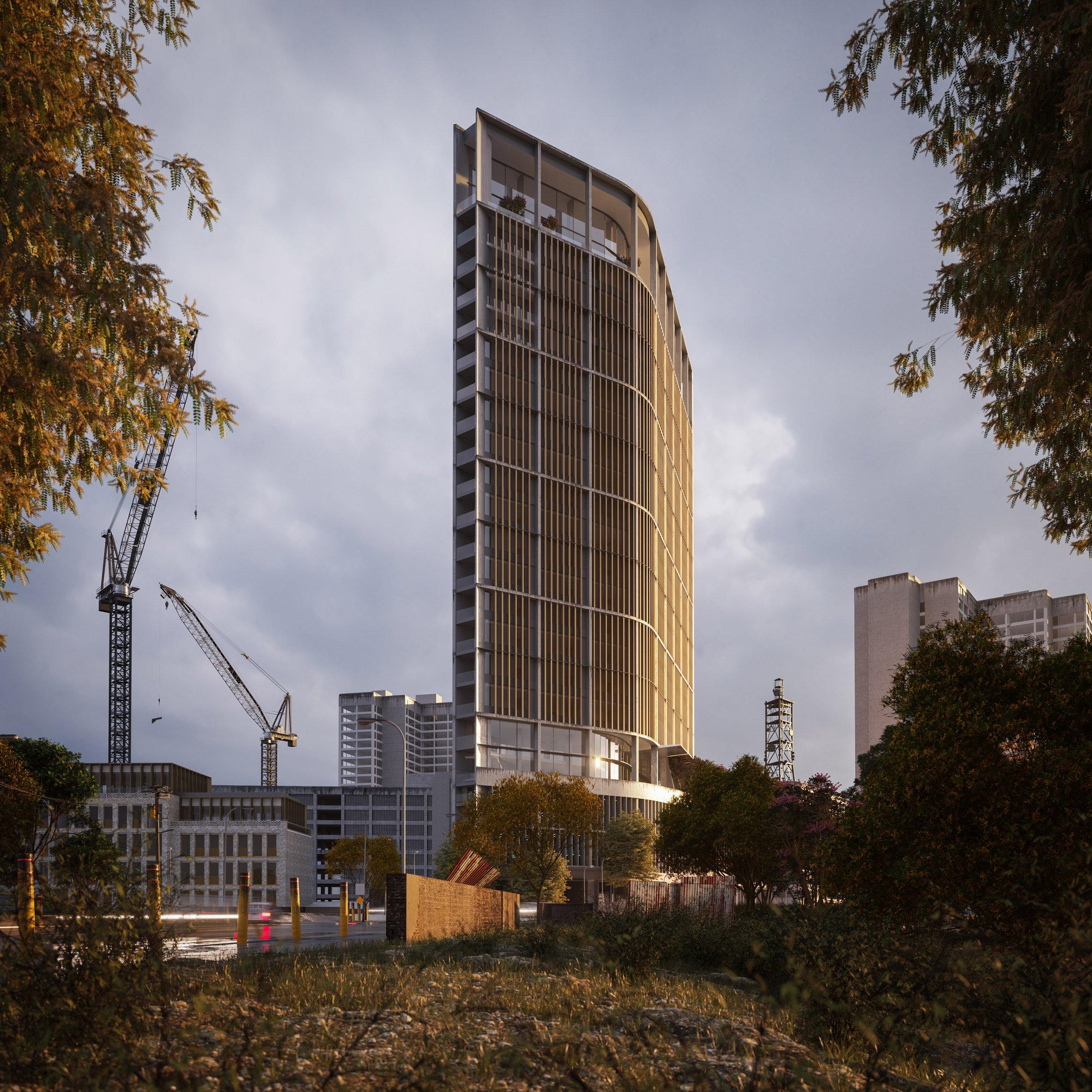 alternative render of apartment building in Kenya