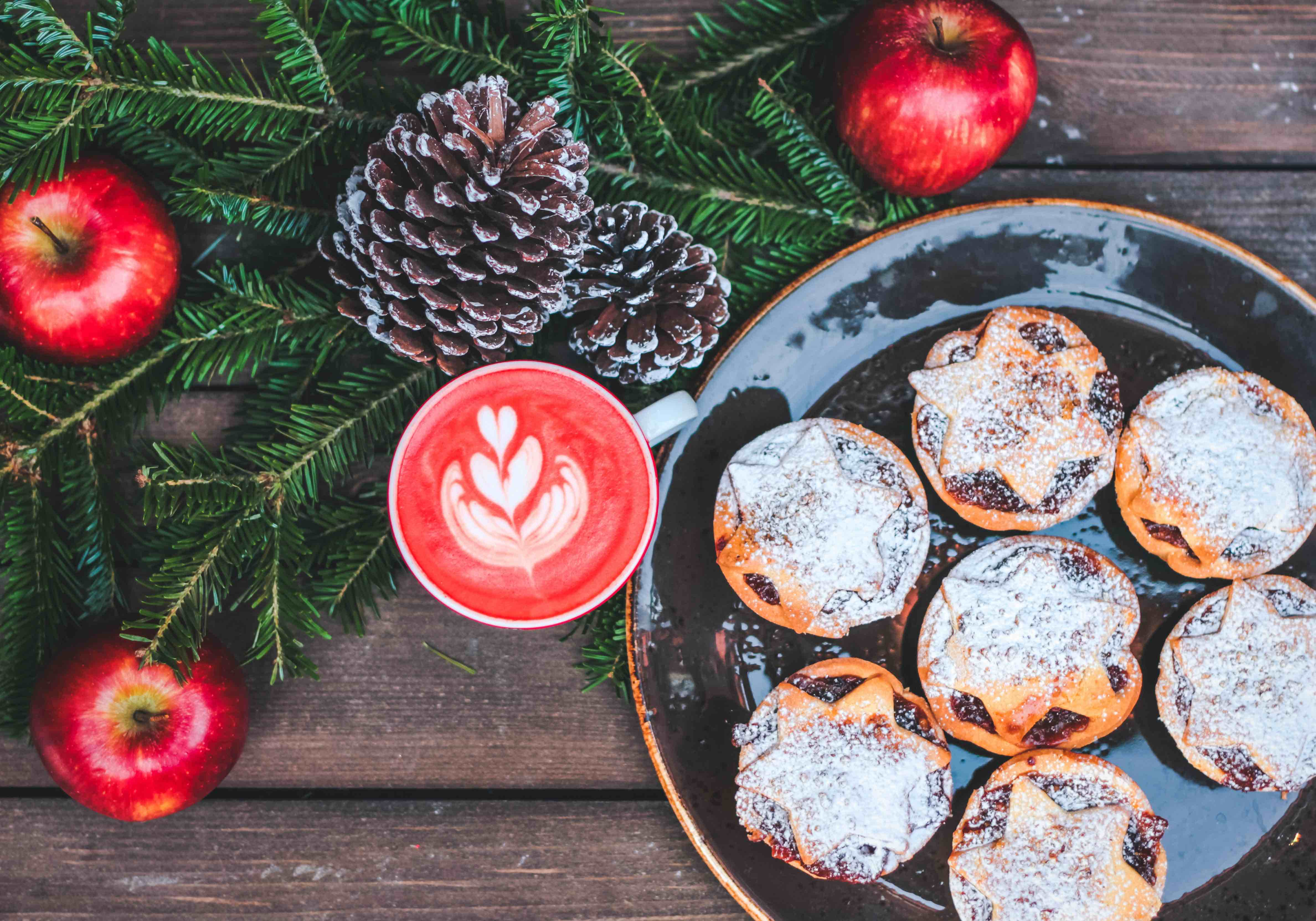 christmas apartment decoration stylish food and drink
