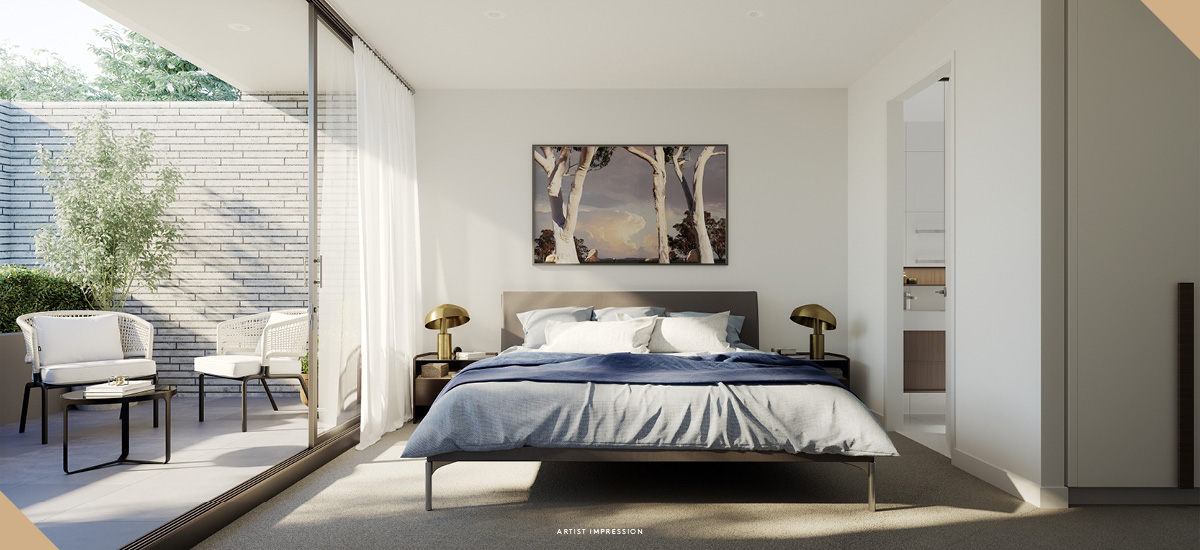 elan apartments bedrooms luxury ensuite with balcony melbourne