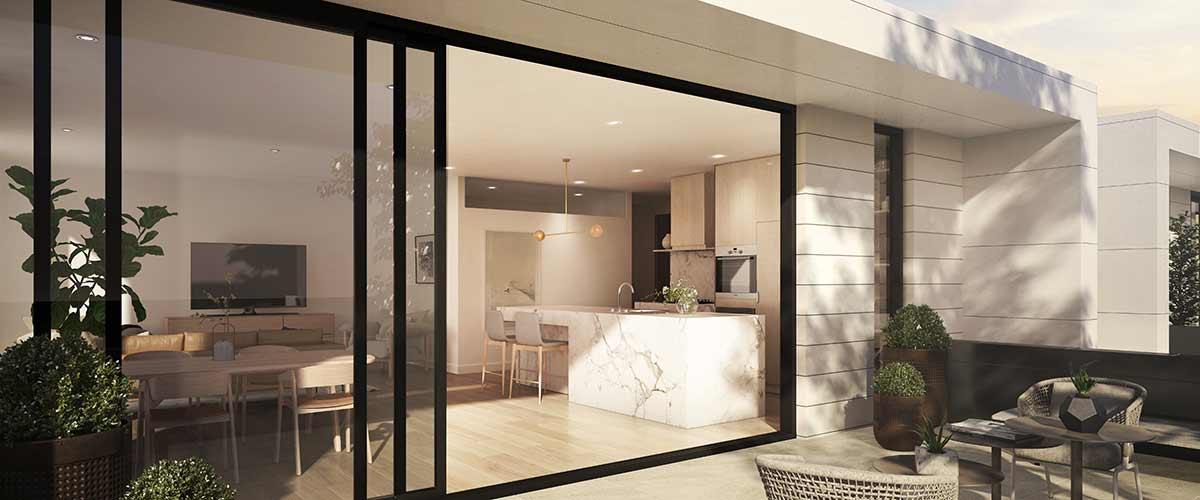 hedgeley house apartment development balcony sliding doors