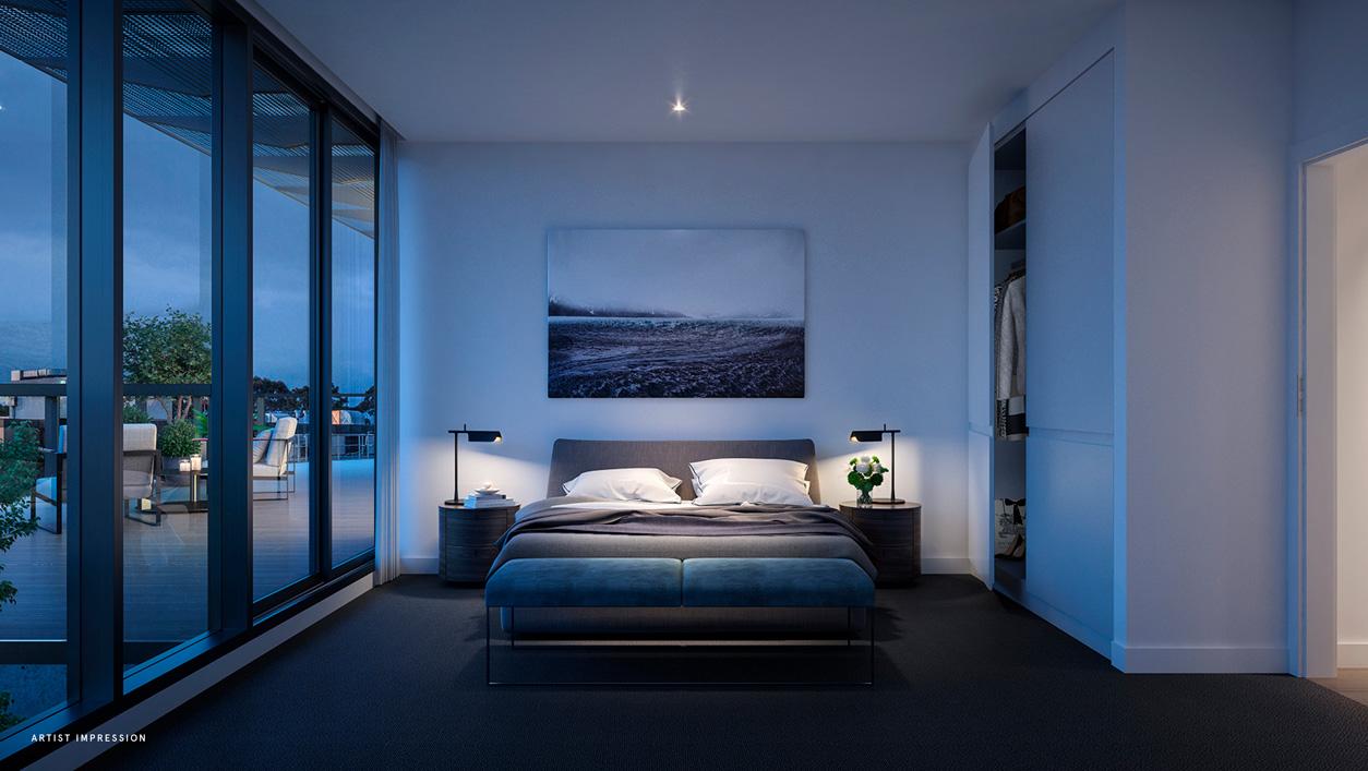 helm apartments bedroom