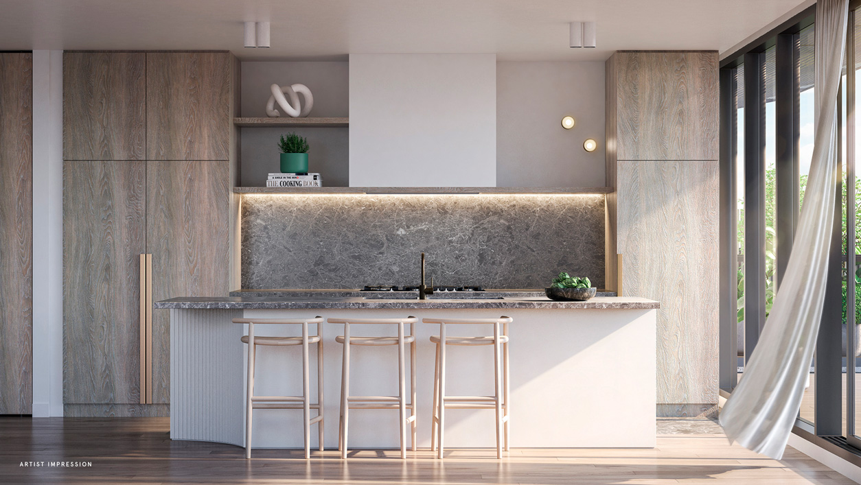 kitchen helm apartments off the plan melbourne italian design